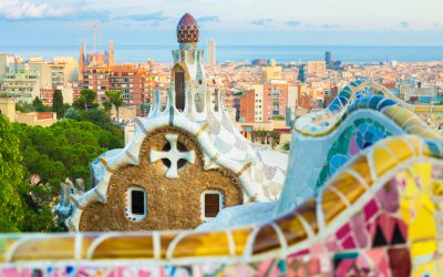 Barcelona cityscape seen from Park Guell.